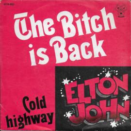 Elton John - The bitch is back (Belgische uitgave)
