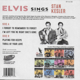 Elvis sings Stan Kesler (85th Anniversary) (Spanish limited edition, yellow vinyl)