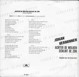 Johan Verminnen - Achter de wolken schijnt de zon