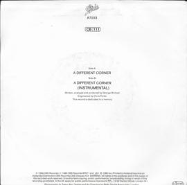 George Michael - A different corner (Alternative cover)