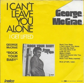 George McCrae - I can't leave you alone (Alternative cover)