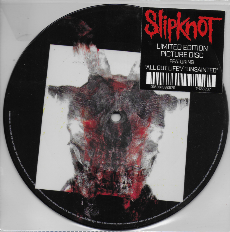 Slipknot - All out life / Unsainted (Limited edition picture disc)