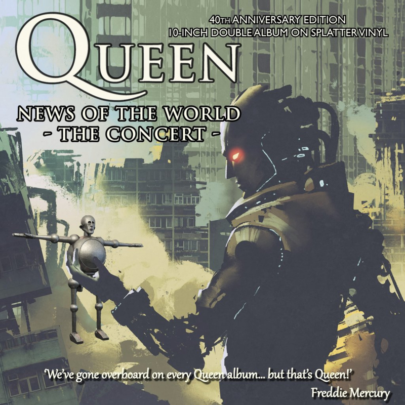"""Queen - News of the world """"The Concert"""" (Limited 10"""" dubbel vinyl)"""
