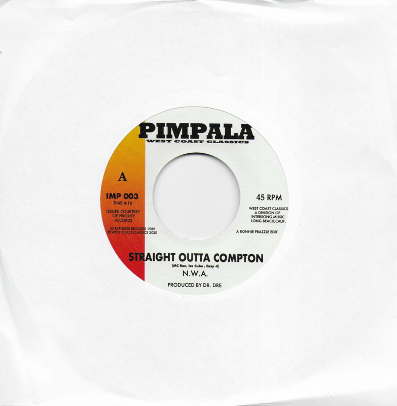 N.W.A. - Straight outta compton / Black Superman - Above the law (Amerikaanse uitgave)
