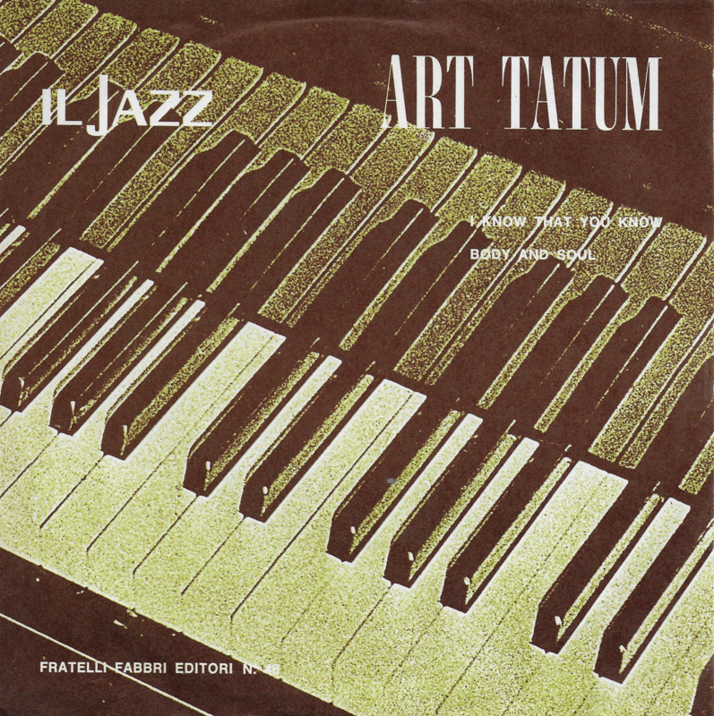 Art Tatum - I know that you know (Italiaanse uitgave)