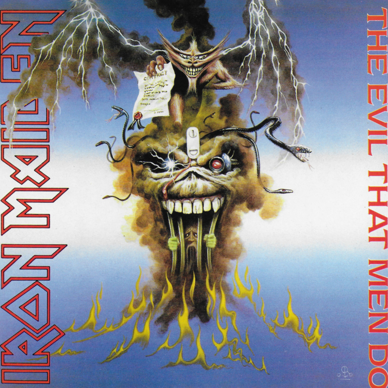 Iron Maiden - The evil that men do (Engelse uitgave 2014)