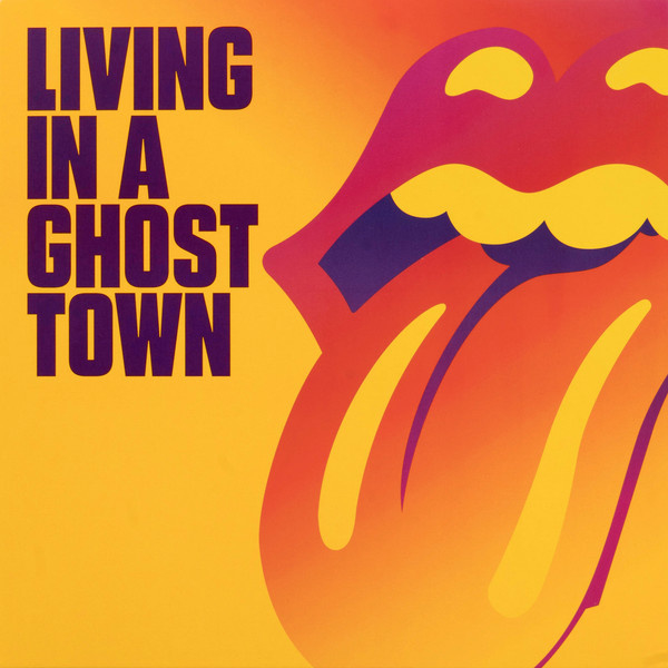 "Rolling Stones - Living in a ghost town (10"" single sided, orange vinyl)"