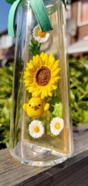 Rilakkuma Flower Bottle Re-Ment Sunflower terrarium