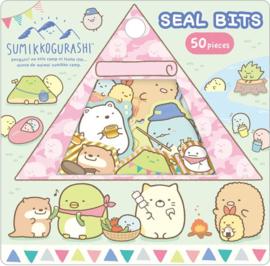 Sumikko Gurashi Seal Bits Camping Blauw