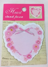 Sticky Notes Heart flowers bow