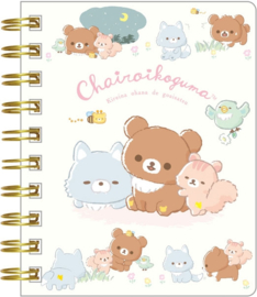 Chairoikoguma's Friends spiraal notebook klein
