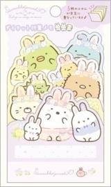 Sumikko Gurashi Fushigina Usagi no Oniwa Sticky Notes Paars
