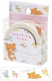 Rilakkuma washi tape wit bloemen