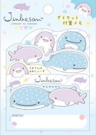 Jinbesan shark sticky notes