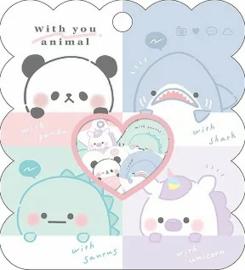 With you animal Stickerzakje Kamio Japan