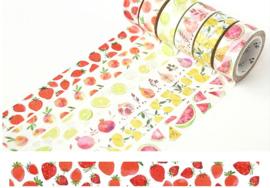 Washi Tape fruit aardbei