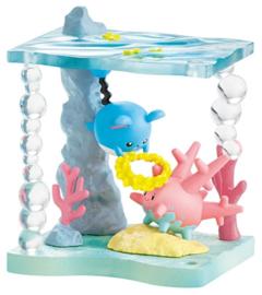 Pokémon World Shining Sea terrarium Marill & Corsola