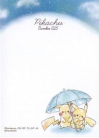 Pokémon Pikachu Regen memoblok klein