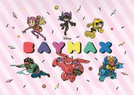 Big Hero Six Baymax insteekmap roze A4