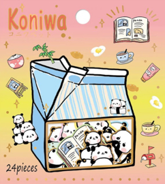Panda kawaii stickerzakje