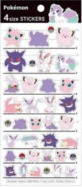 Paarse en roze Pokémon stickervel