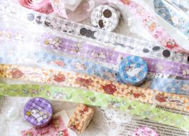 Paarse kat washi tape