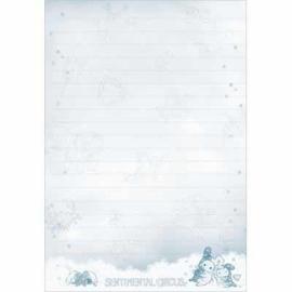 Sentimental Circus Clouds Spiral notebook