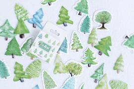 Stickerdoosje Bomen