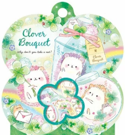Kamio Japan Clover Bouquet Stickerzakje
