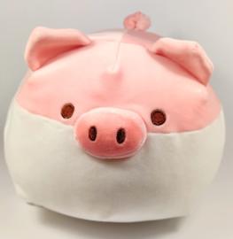 Big plush roze wit
