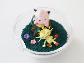 Pokémon Terrarium collectie 9 Jigglypuff & Meowth