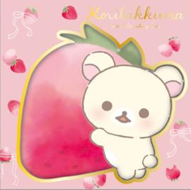 Korilakkuma strawberry cats memoblok vierkant
