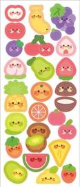 Kawaii glitter stickervel fruit