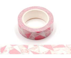 Roze vormen washi tape