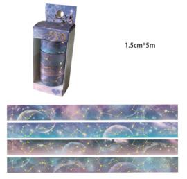Washi Tape set Blauwe Galaxy