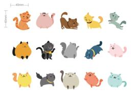 Stickerdoosje katten
