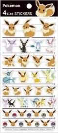 Pokémon Eevee en Eeveelutions stickervel