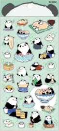 Stickervel panda food