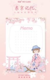 Sticky Notes Sakura Meisje