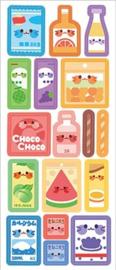 Kawaii glitter stickervel snack
