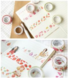 Fruit washi tape perzik