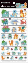 Pokémon Kanto starters stickervel