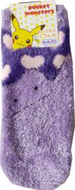 Pluizige Pokémon Ditto hartjes (enkel) sokken