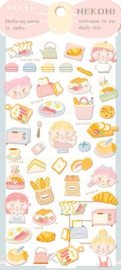 Stickervel kawaii bakker