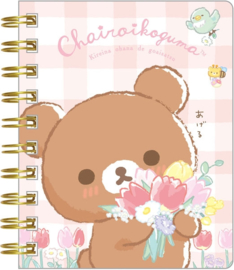 Chairoikoguma's Friends spiraal notebook klein roze