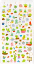 Stickervel kawaii planten
