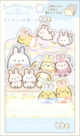 Sumikko Gurashi Fushigina Usagi no Oniwa Sticky Notes Blauw