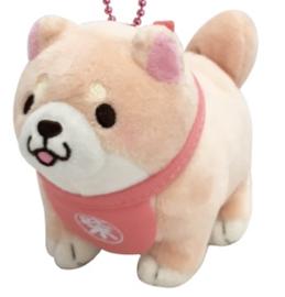 Mochishiba shiba plush sleutelhanger sakura roze
