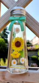 Rilakkuma Flower Bottle Re-Ment Blue Star terrarium