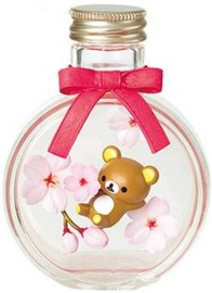 Rilakkuma Flower Bottle Re-Ment Cherry Blossom terrarium